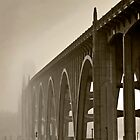 Bridge Into The Mist by Rick  Bender