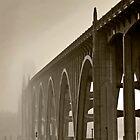 Bridge Into The Mist by Rick  Bender