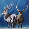 Light and dark - Stags by Pauline Sharp