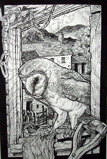 Barn Owl at home. by Robert David Gellion
