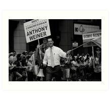 Meet Congressman Anthony Weiner, Gay Pride, June 2009 Art Print