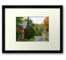 Rainy Day In Bear River Framed Print