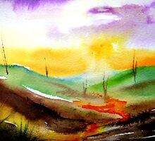 Sundown - Landscape by © Linda Callaghan