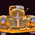 Old yellow dodge by pdsfotoart