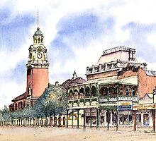 Post Office Tower ,Hannan St, Kalgoorlie. West Australia. by robynart