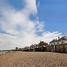 Seaside beach huts by Richard Majlinder