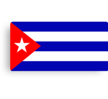 Cuba, national id Canvas Print