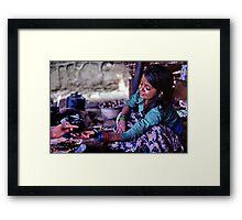 A few rupees Framed Print