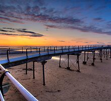 Saltburn Pier Sunset by Stewart Laker
