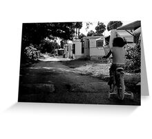 Early Morning ride : Trailer Park America Series  Greeting Card