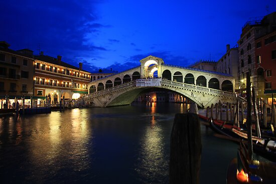"Rialto Bridge at Dusk"" by Christophe Testi 