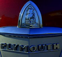 1946 Plymouth Trunk Emblem by TeeMack
