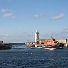 Lifeboat at Buckie Harbour, Scotland. by Teuchter