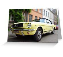 Blond Mustang Greeting Card