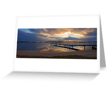 Shelley Jetty At Sunset  Greeting Card