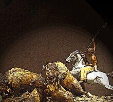 Buffalo Hunt by Al Bourassa