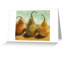 The Three Graces - fruit still life Greeting Card
