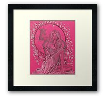 Elven Lady In White Framed Print