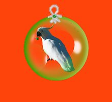 Aussi  X-mas  Cockatoo Card ( Red ) stock up! get ready for christmas ! by mandyemblow