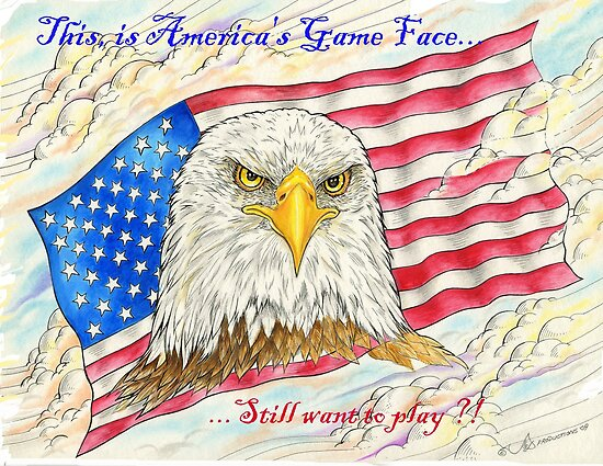 America's Game Face by Jim Cabay