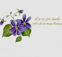 Let us give thanks... by Ilunia Felczer