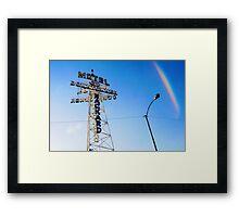 Flagstaff Motel Framed Print