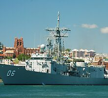 HMAS NEWCASTLE by Phil Woodman