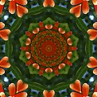 Orange Trumpet Vine Mandala by medley