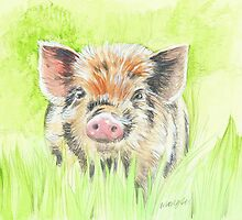 Fitztown Farm Pig 2 by morgansartworld