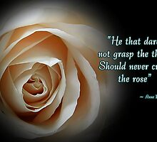 Crave the Rose by Greeting Cards by Tracy DeVore