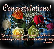 Congratulations! by Greeting Cards by Tracy DeVore