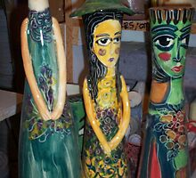 strange ceramic dolls by catherine walker