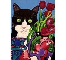Tullulah and Tulips Photographic Print