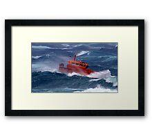 Taking on the High Seas © Framed Print