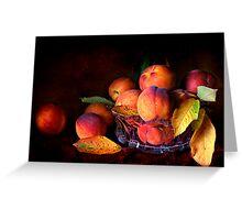 Eat A Peach Greeting Card