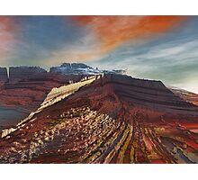 Eleganz01: High Cliffs Approach Photographic Print
