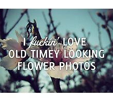 Old Timey Looking Flower Photos Photographic Print