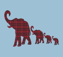 Tartan Elephants T-Shirt by simpsonvisuals