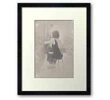 ~ woman in pearls at rest ~ Framed Print