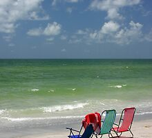 Three Chairs by the sea by kinz4photo
