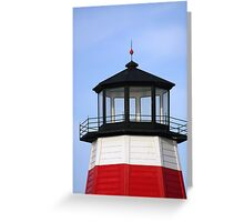 Lighthouse at the pass Greeting Card