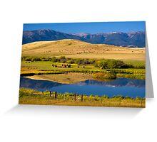 Montana Ranchland. USA. Greeting Card