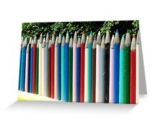 Giant Pencils Greeting Card
