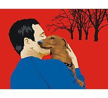 the dachshund whisperer Photographic Print