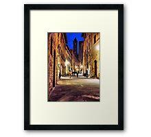 via San Giovanni Framed Print