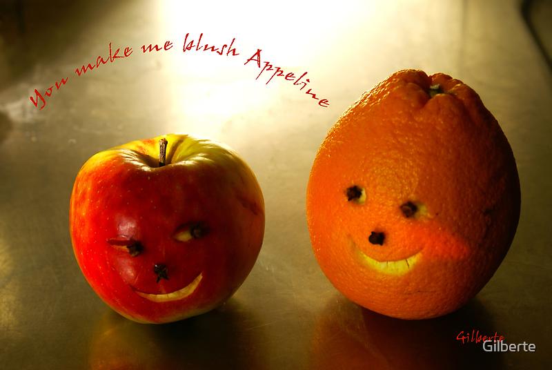 You make me blush Appeline by Gilberte