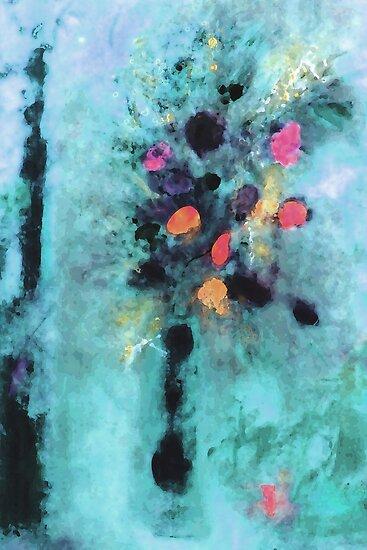 Blue Floral Fantasy by Ruth Palmer