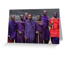 MASAI MEN - KENYA Greeting Card