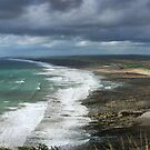 Panorama of Widemouth Bay by M G  Pettett