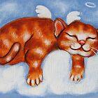 """""""Angel Cat on Cloud"""" by GraceG"""